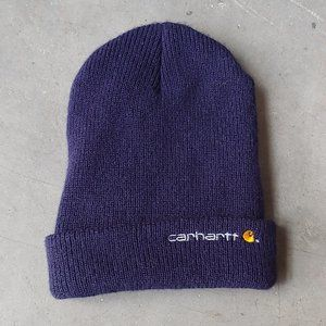 Carhartt Navy Blue Knit Beanie Hat